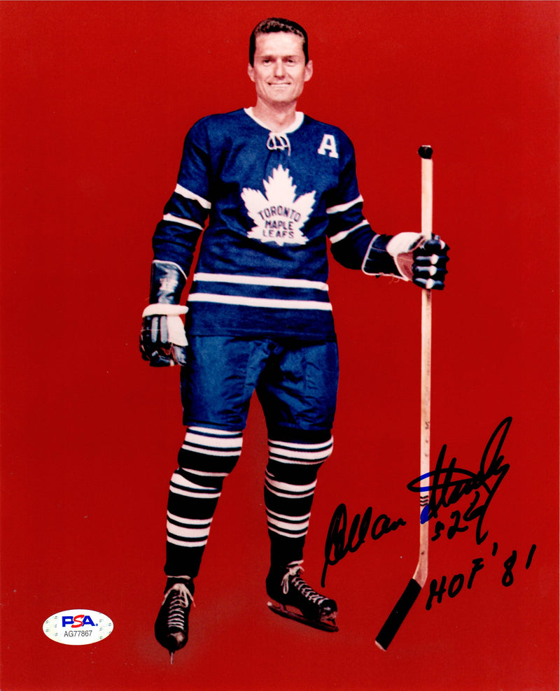 Allan Stanley autographed signed inscribed 8x10 photo NHL Toronto Maple Leaf PSA - JAG Sports Marketing