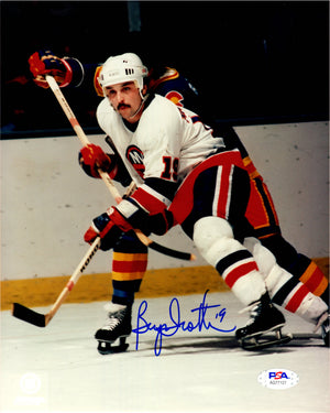Bryan Trottier autographed signed 8x10 photo NHL New York Islanders PSA COA - JAG Sports Marketing
