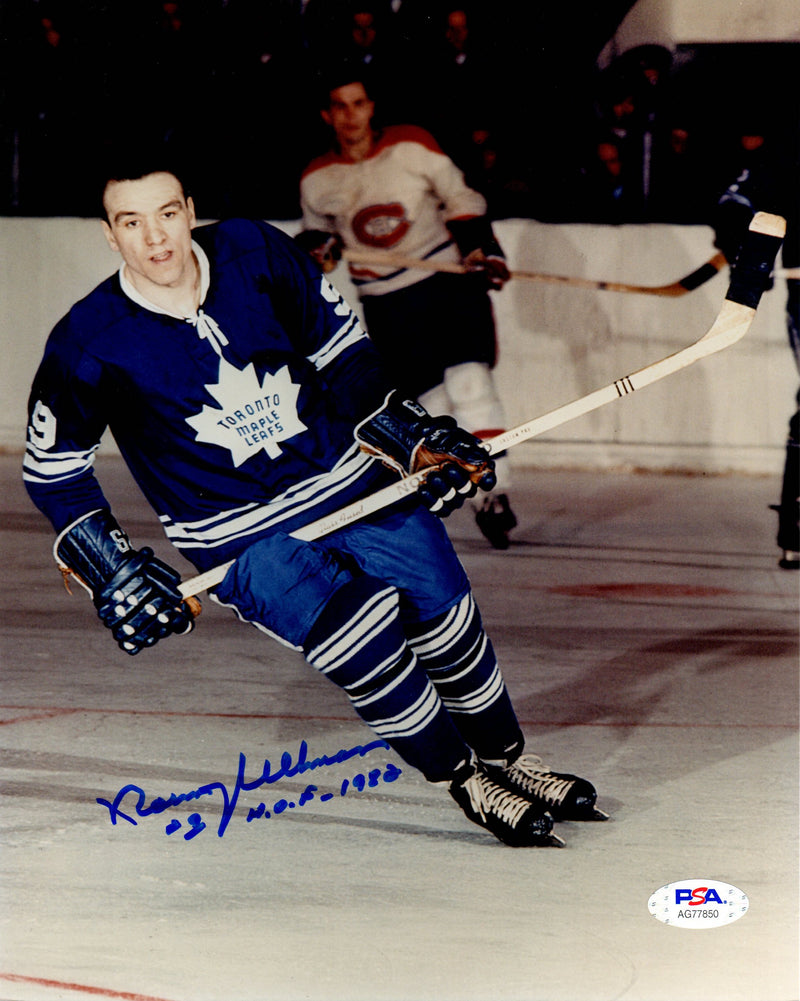 Norm Ullman autographed signed inscribed 8x10 photo NHL Toronto Maple Leaf PSA - JAG Sports Marketing