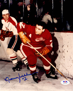 Norm Ullman autographed signed 8x10 photo NHL Detroit Red Wings PSA COA HOF - JAG Sports Marketing