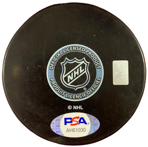 JT Compher autographed signed puck NHL Colorado Avalanche PSA COA - JAG Sports Marketing