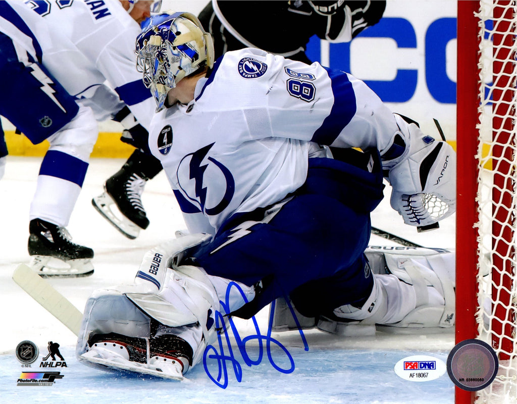Andrei Vasilevskiy autographed signed 8x10 photo NHL Tampa Bay Lightning PSA COA