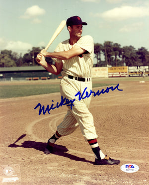 Mickey Vernon autographed signed 8x10 photo MLB Washington Senators PSA COA - JAG Sports Marketing