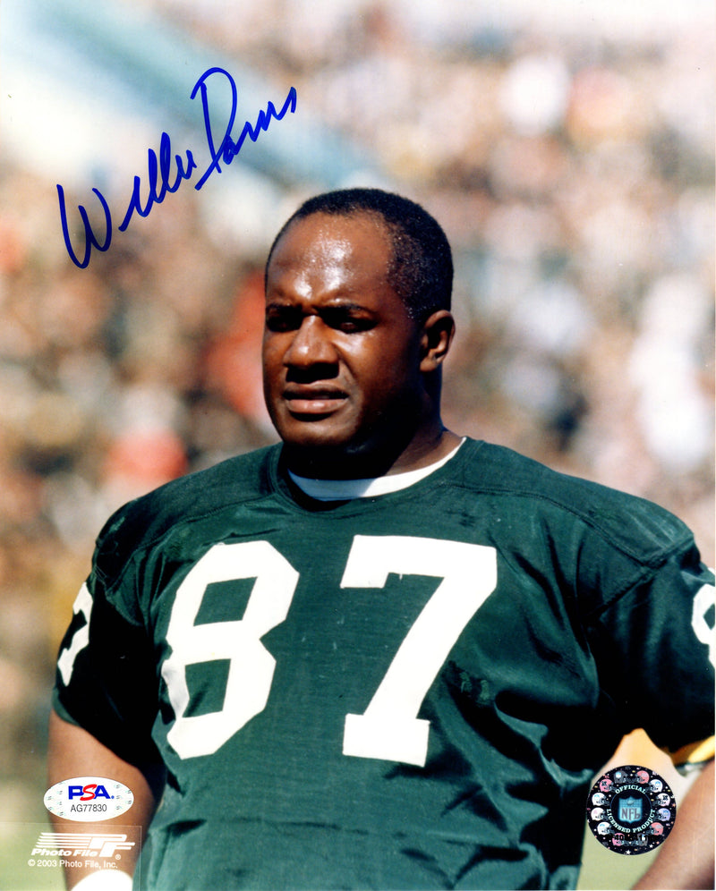 Willie Davis autographed signed 8x10 photo Green Bay Packers PSA COA - JAG Sports Marketing