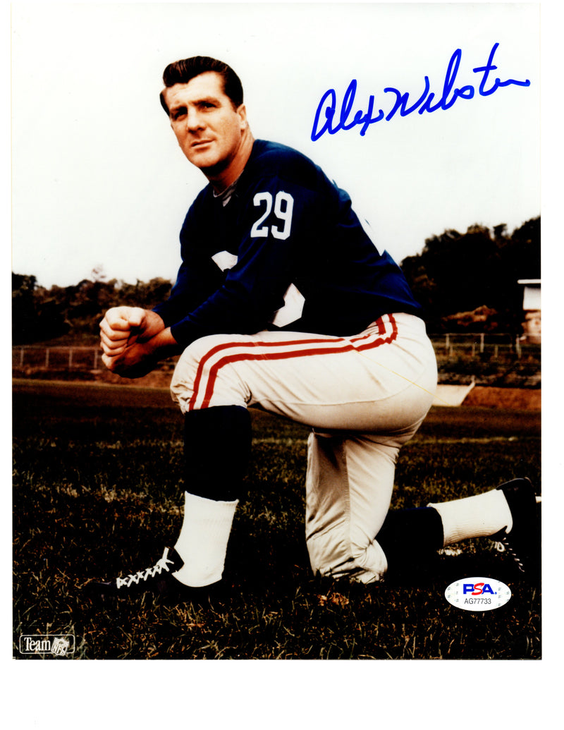 Alex Webster autographed signed 8x10 photo NFL New York Giants PSA COA - JAG Sports Marketing