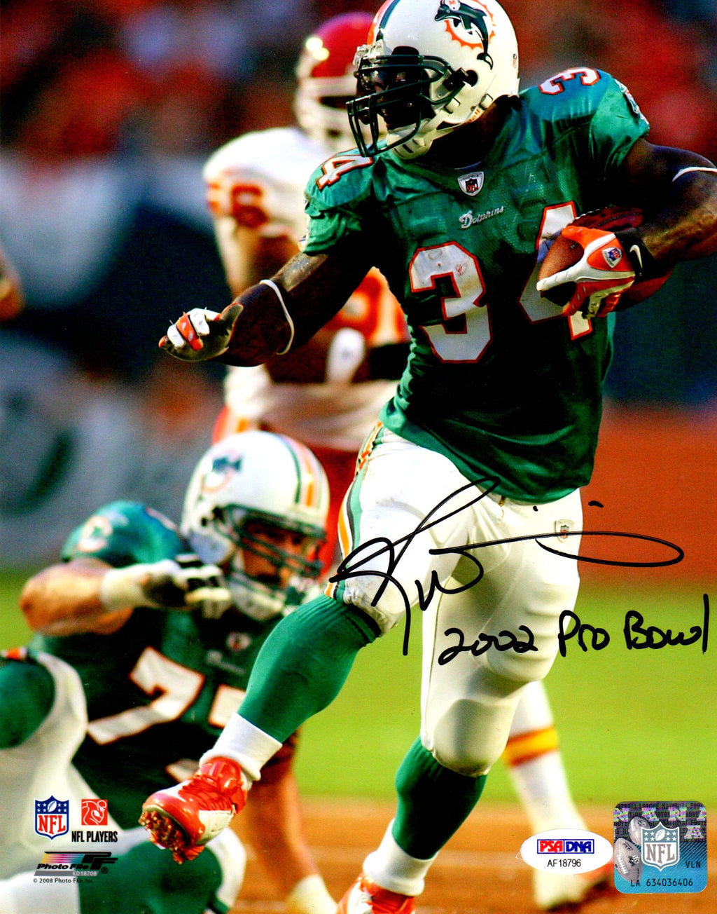 Ricky Williams autographed inscribed 8x10 NFL Miami Dolphins PSA Photo File - JAG Sports Marketing