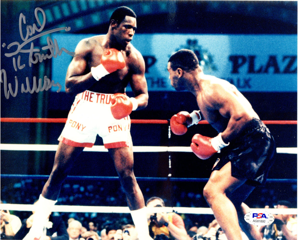 "Carl ""The Truth"" Williams autographed signed inscribed 8x10 photo Boxing PSA COA - JAG Sports Marketing"
