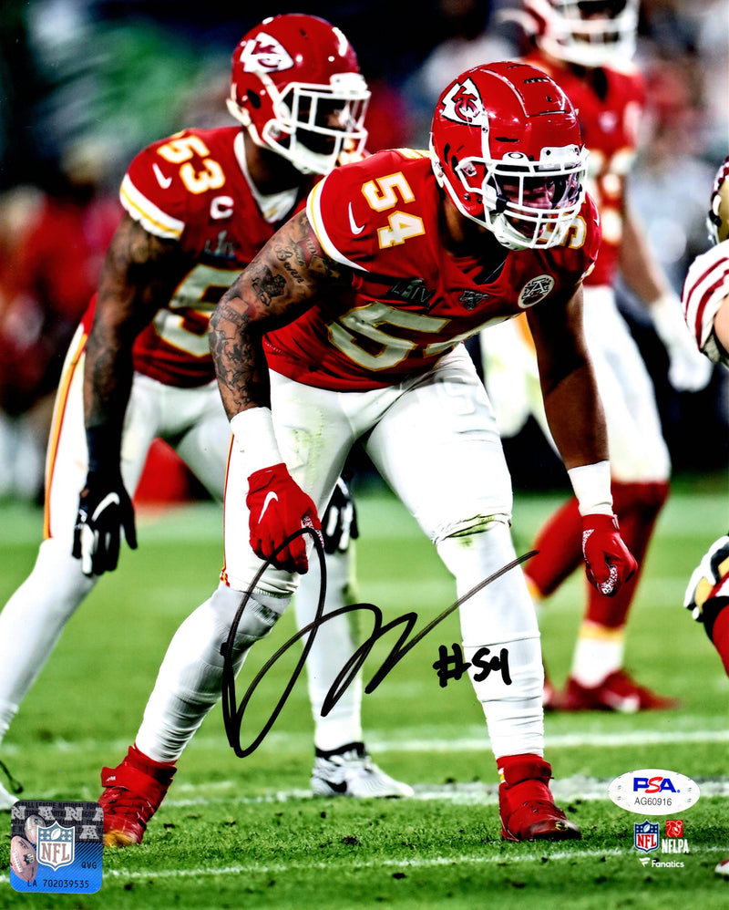 Damien Wilson autographed signed 8x10 photo Kansas City Chiefs PSA COA - JAG Sports Marketing