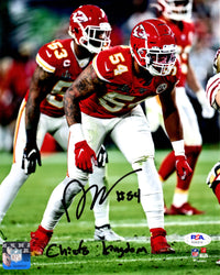 Damien Wilson autographed signed inscribed 8x10 photo Kansas City Chiefs PSA COA - JAG Sports Marketing