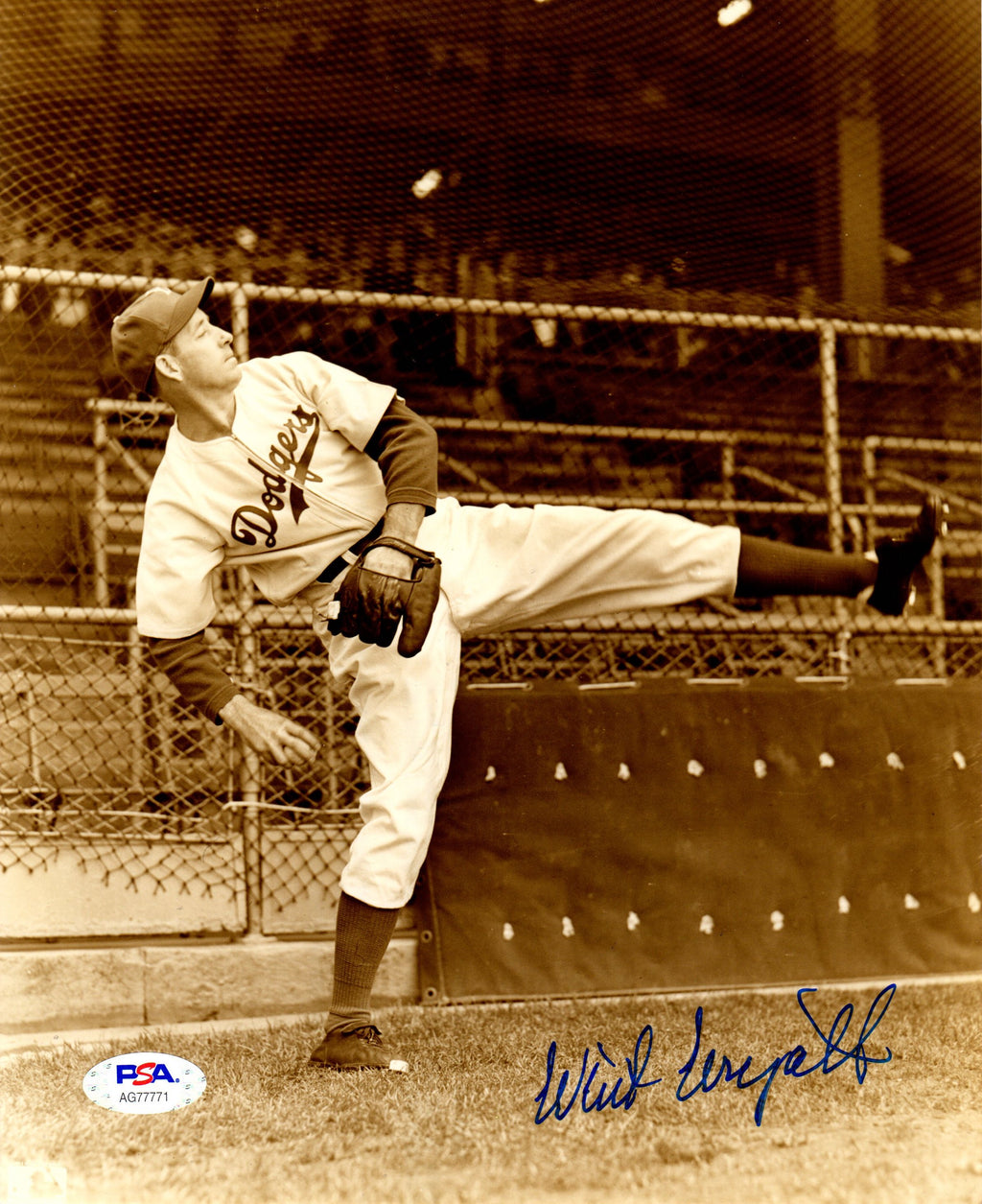 Whit Wyatt autographed signed 8x10 photo MLB Brooklyn Dodgers PSA COA - JAG Sports Marketing