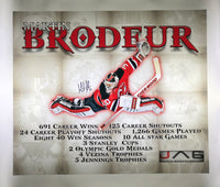New Jersey Devils Martin Brodeur signed Canvas - JAG Sports Marketing