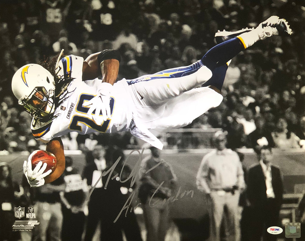 Melvin Gordon autographed signed inscribed 16x20 Los Angeles Chargers PSA