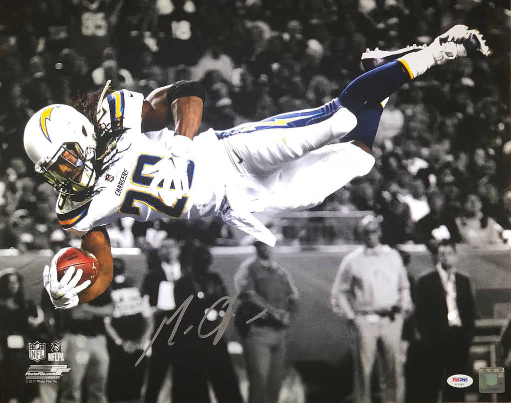 Melvin Gordon autographed signed 16x20 Los Angeles Chargers PSA