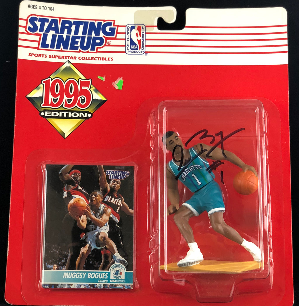 Muggsy Bogues autographed figure NBA Charlotte Hornets PSA COA - JAG Sports Marketing