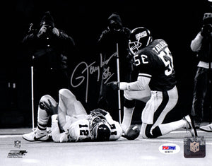 Lawrence Taylor autographed 8x10 NFL New York Giants PSA MVP Photo File - JAG Sports Marketing