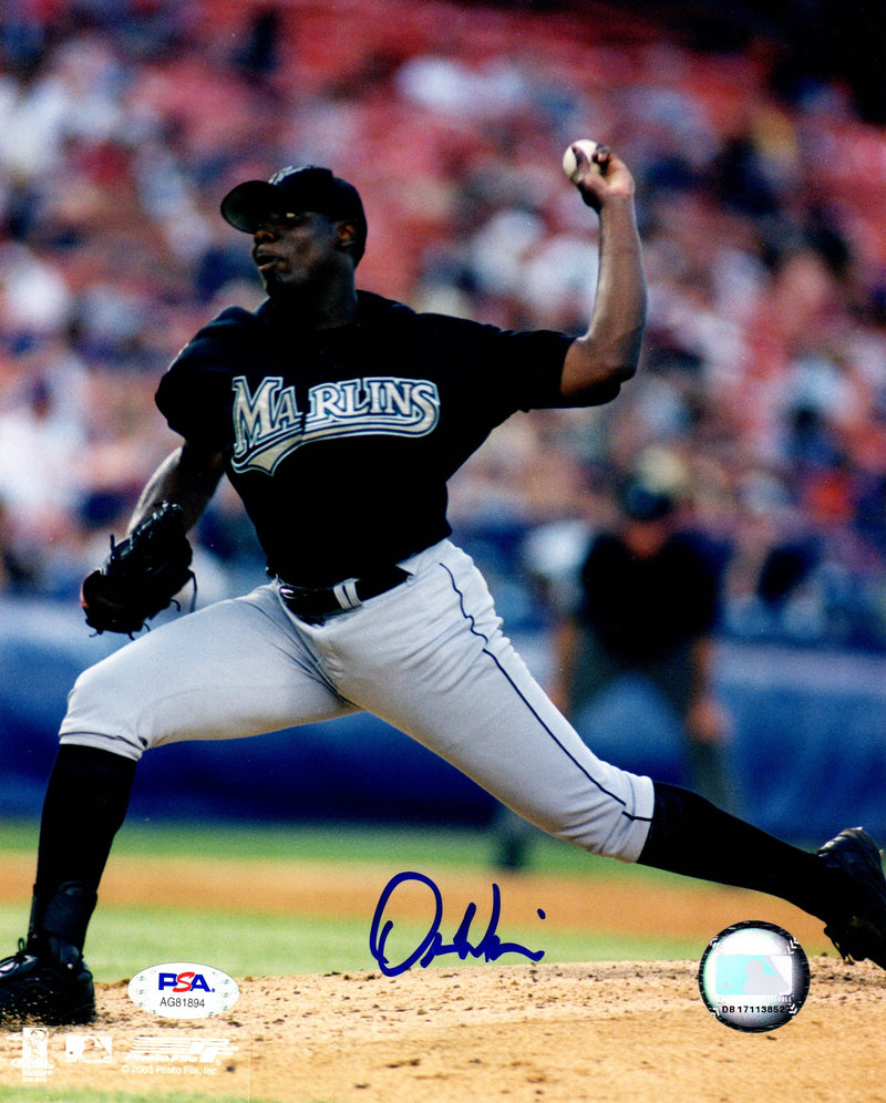 Dontrelle Willis autographed signed 8x10 photo MLB Florida Marlins PSA COA - JAG Sports Marketing