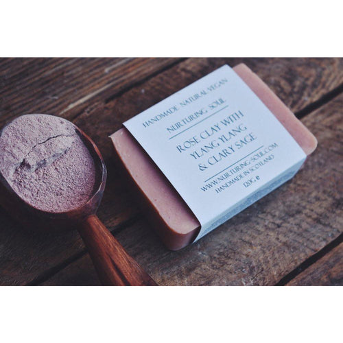 Rose clay ylang ylang clary sage soap