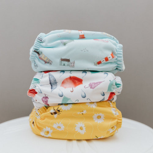Baba & Boo Bundle of 3 Newborn Cloth Nappies