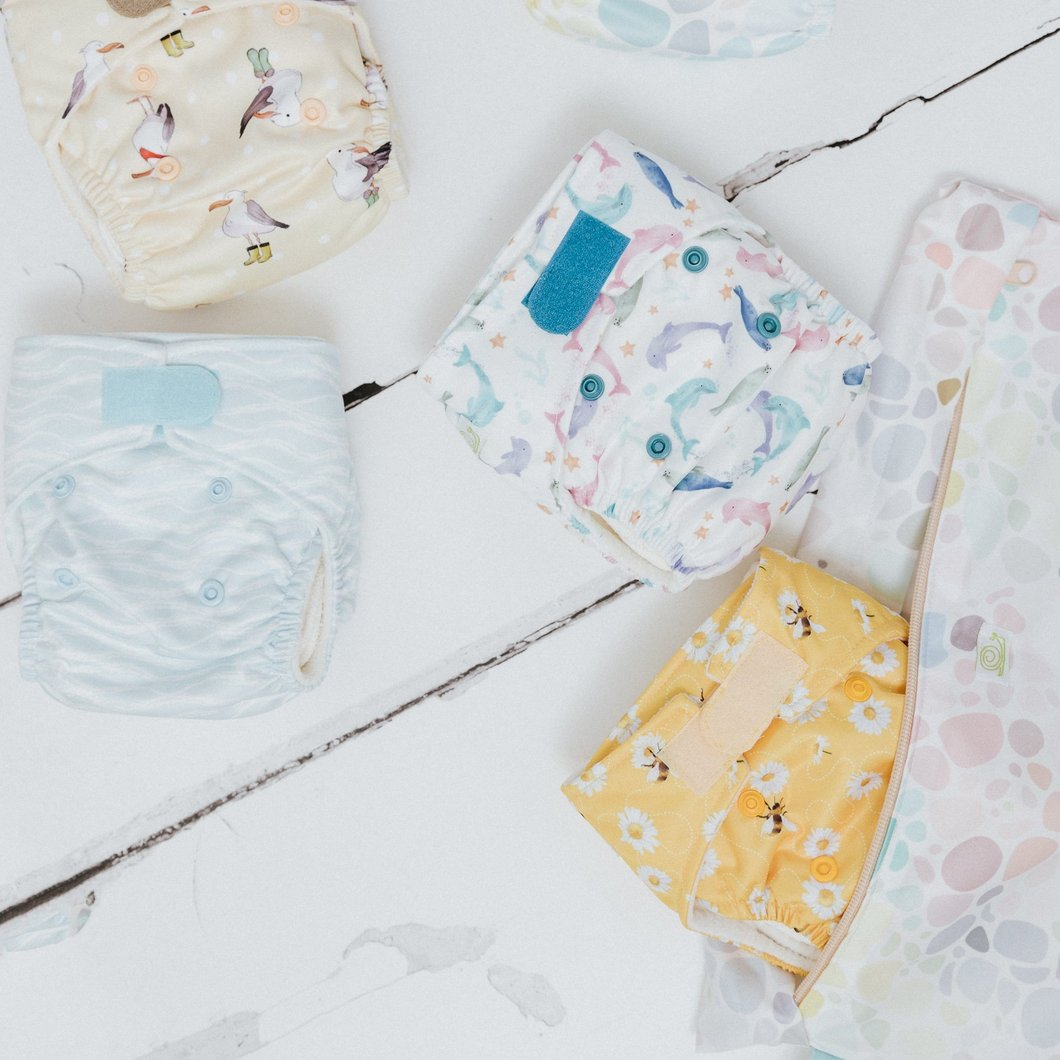 Baba & Boo Bundle of 5 Newborn Cloth Nappies