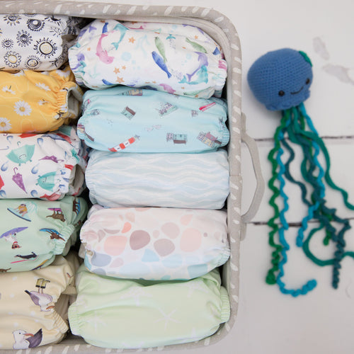 Baba & Boo Bundle of 10 Newborn Cloth Nappies