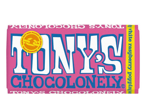 Tonys white raspberry popping candy 28% - 180g