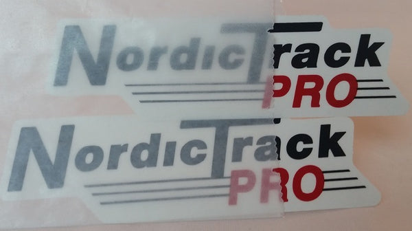 nordicfitnessskimachines - NordicTrack Wood Sideboard DECAL Set w/ Extra (2 + 1 FREE)