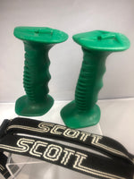 NordicTrack Ski Machines Custom Fitness Ski Grips CHRISTMAS GREEN Medium / Large with Adjustable Wrist Straps
