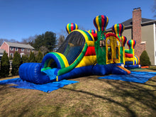 Adventure Obstacle Course with wet/dry slide 50'x14'x16'