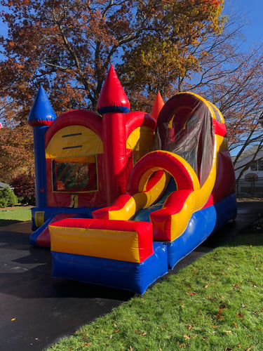 Bounce House Combo Unit - wet or dry slide 18'x18'x14'