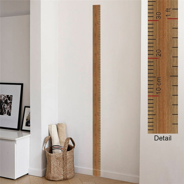 Wooden Height Ruler Decal