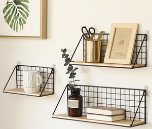 Wooden Iron Wall Rack