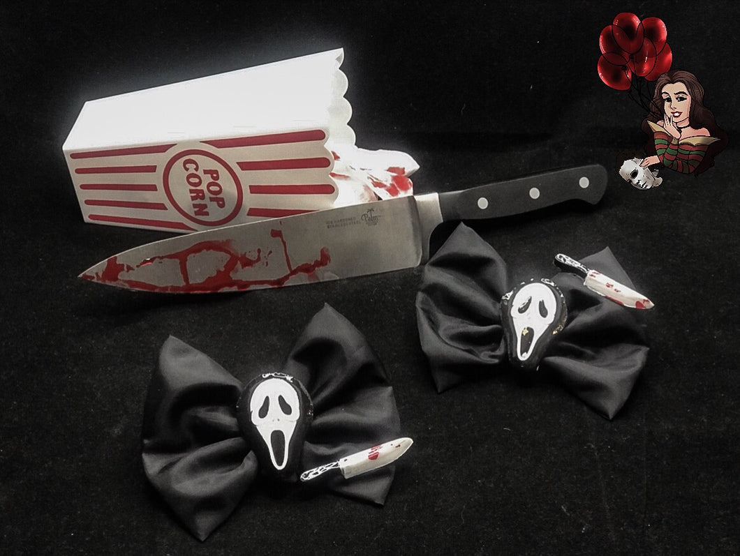 Scream Ghostface Hairbows