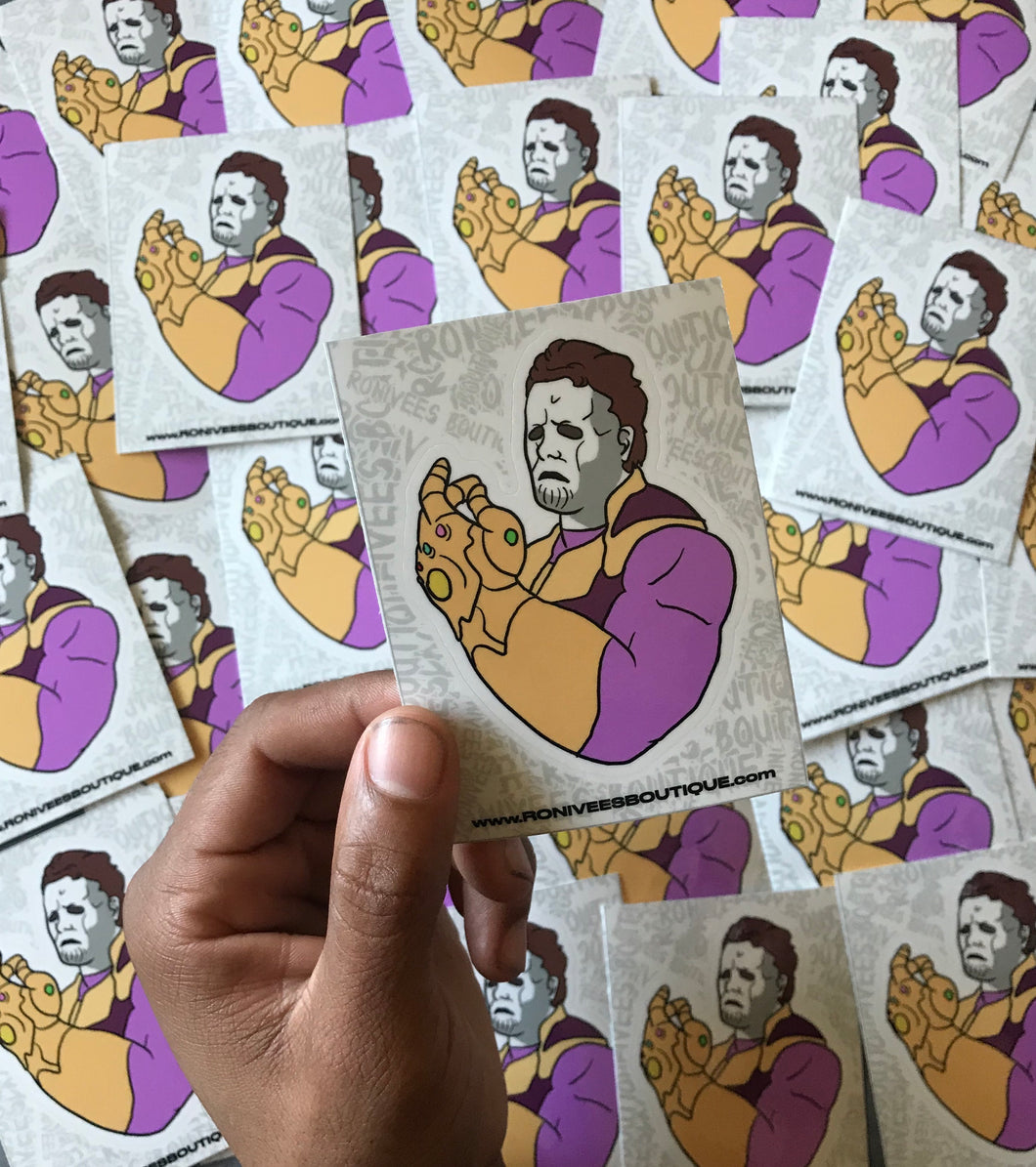 Thanos Myers Stickers