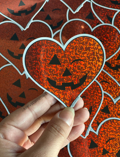Red Glitter Jack o'Heart Stickers