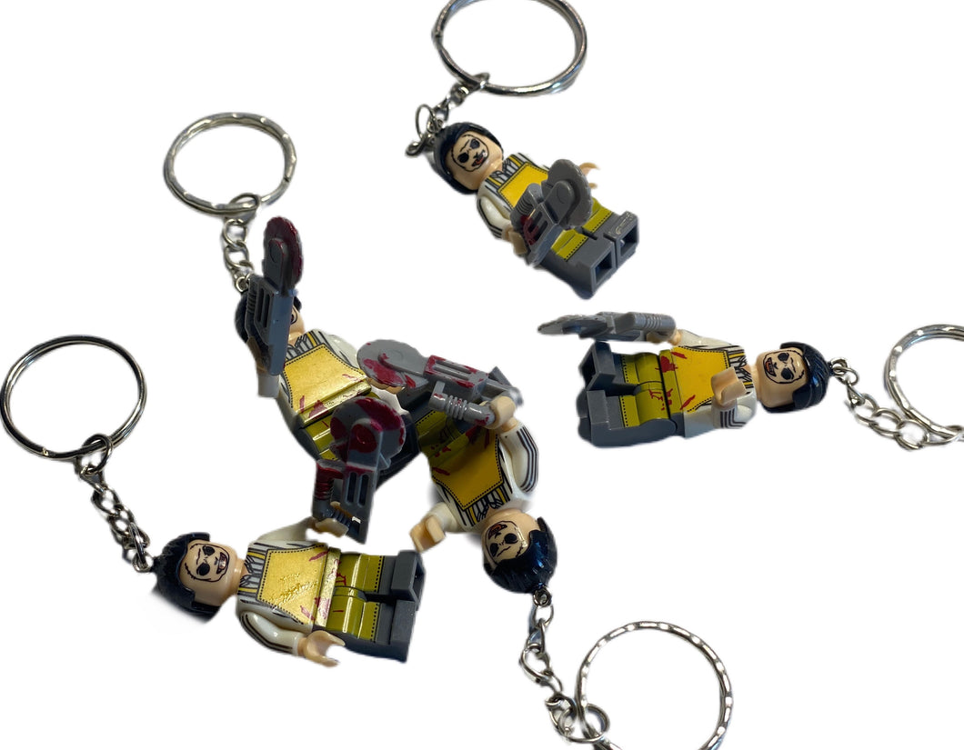 Leatherface Lego Keychains