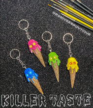 Load image into Gallery viewer, Skull Melting Icecream Keychains