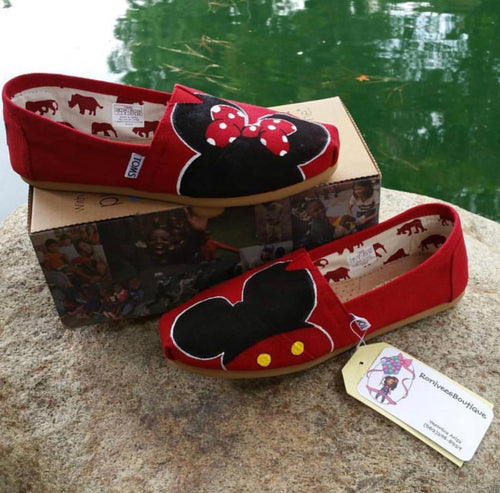 Mickey & Minnie Mouse Toms