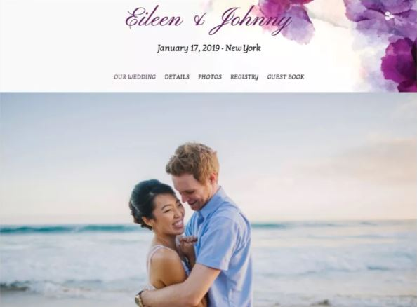 Turn Key Wedding Website