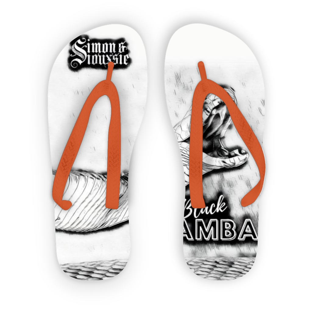 Beach Collection: Black Mamba Adult Flip Flops