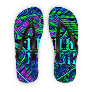 Beach Collection: Green Mamba Adult Flip Flops