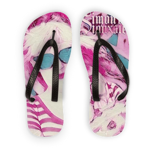 Beach Collection: Siouxsie Pink Adult Flip Flops