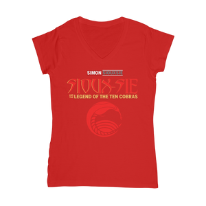 Sioux-sie And The Legend of the Ten Cobras V Neck for Women