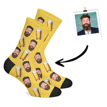Laden das Bild in den Galerie-Viewer, Personalisierte Bier Socken