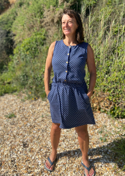 New to the Crew Mummy Dress (Indigo Cross)