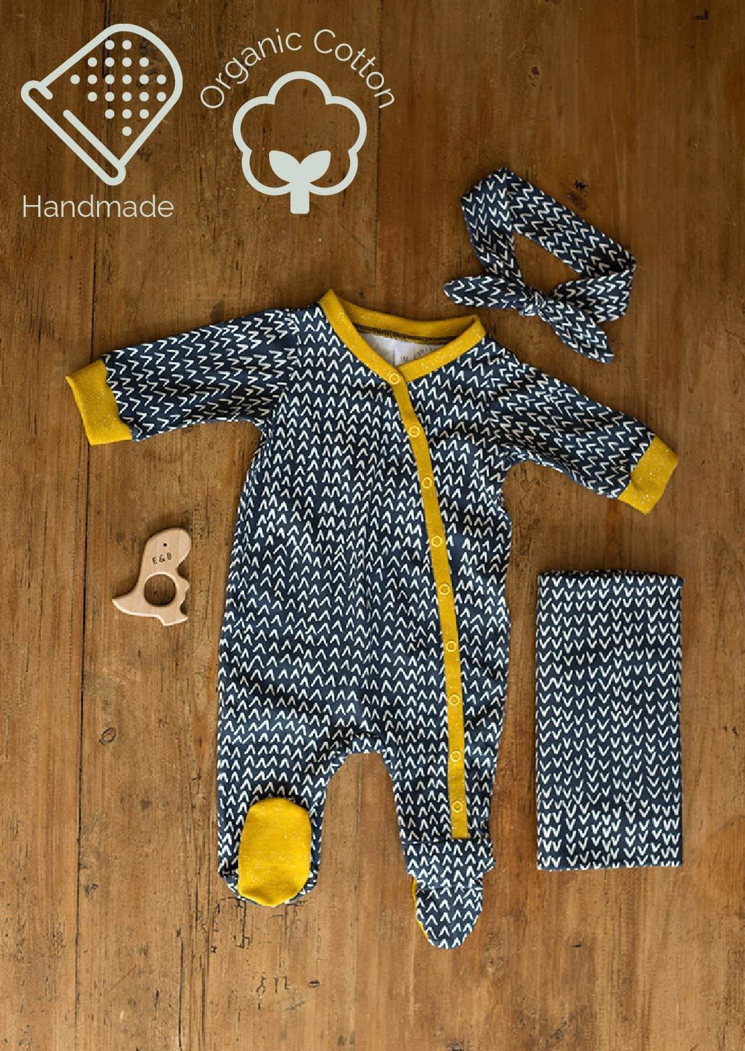 New to the Crew Footie Coverall (Geo Dusk)