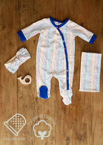 New to the Crew Footie Coverall (Multi Dots)