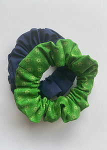 Green Stars Scrunchies