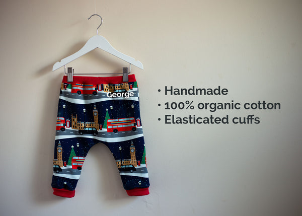 Organic Cotton Christmas Harem Leggings (London Town)