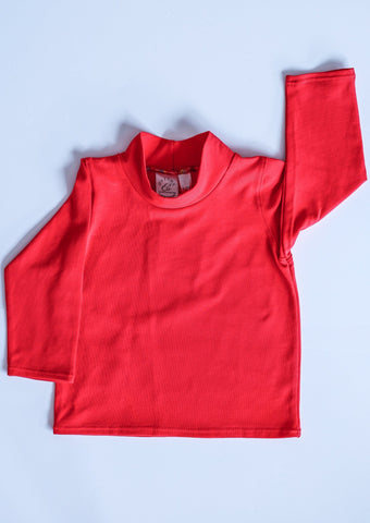 Organic Cotton Turtle Neck (red)