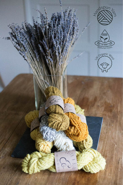 Hand Spun Organic Yarn- Natural (solid)